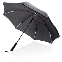 """Механический зонт со светодиодами 23"""", черный, , высота 79 см., диаметр 103 см., P850.421, фото 1"""