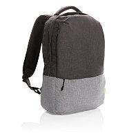 """Рюкзак для ноутбука Duo color 15.6"""" с RFID защитой (не содержит ПВХ), серый, Длина 30 см., ширина 10 см.,"""