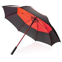 """Автоматический двухцветный зонт-антишторм 27"""", красный, , высота 92 см., диаметр 123 см., P850.294"""