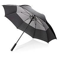 """Автоматический двухцветный зонт-антишторм 27"""", серый, , высота 92 см., диаметр 123 см., P850.292"""