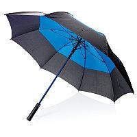 """Автоматический двухцветный зонт-антишторм 27"""", синий, , высота 92 см., диаметр 123 см., P850.295"""