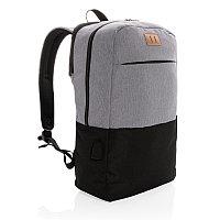 """Рюкзак для ноутбука Modern USB RFID (не содержит ПВХ), 15"""", черный, Длина 28,5 см., ширина 13,5 см., высота"""