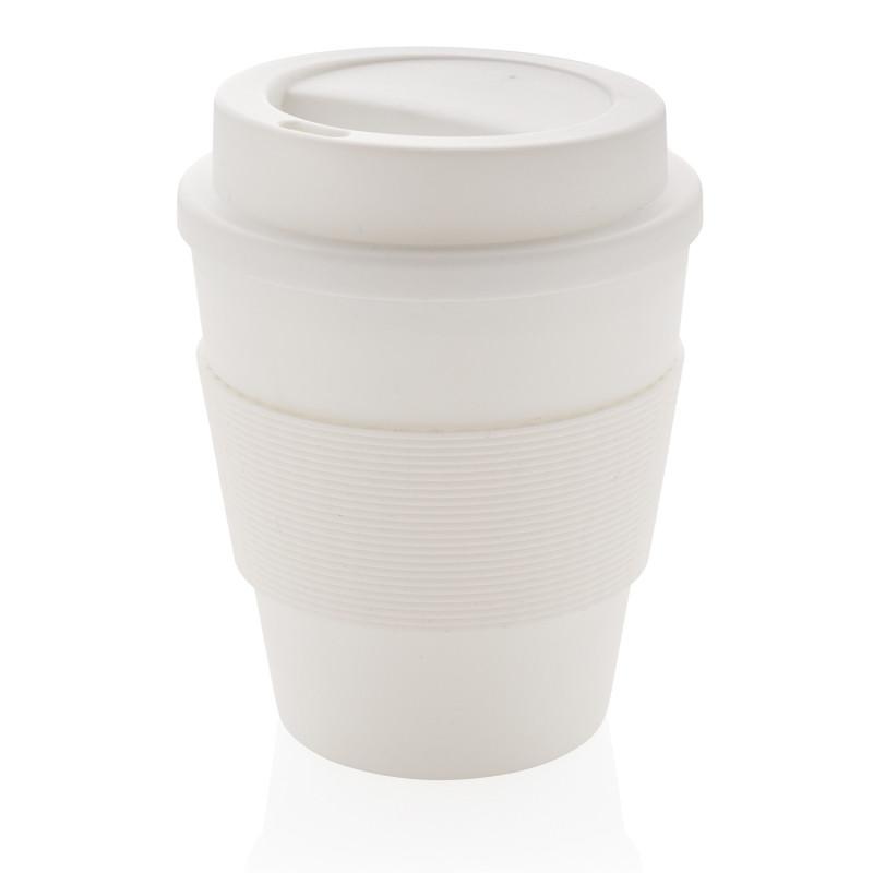 Стакан для кофе с закручивающейся крышкой, 350 мл, белый, , высота 11,8 см., диаметр 9 см., P432.683