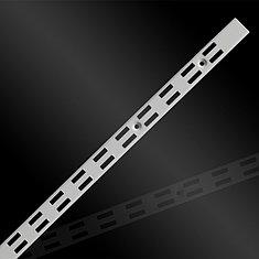 Торговое оборудование - Профиль перфорированный Vertikal двойной белый 2400мм