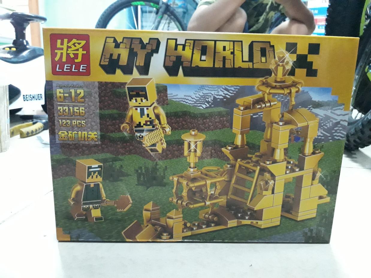 Конструктор Lele My world 33156 123 pcs. Minecraft. Майнкрафт