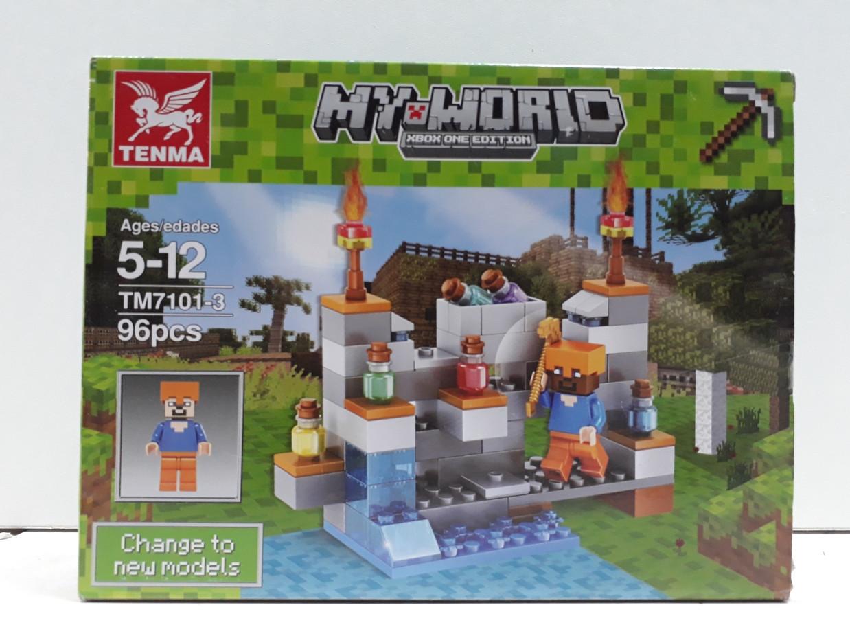 Конструктор Tenma My world TM7101-3 96 pcs. Minecraft. Майнкрафт