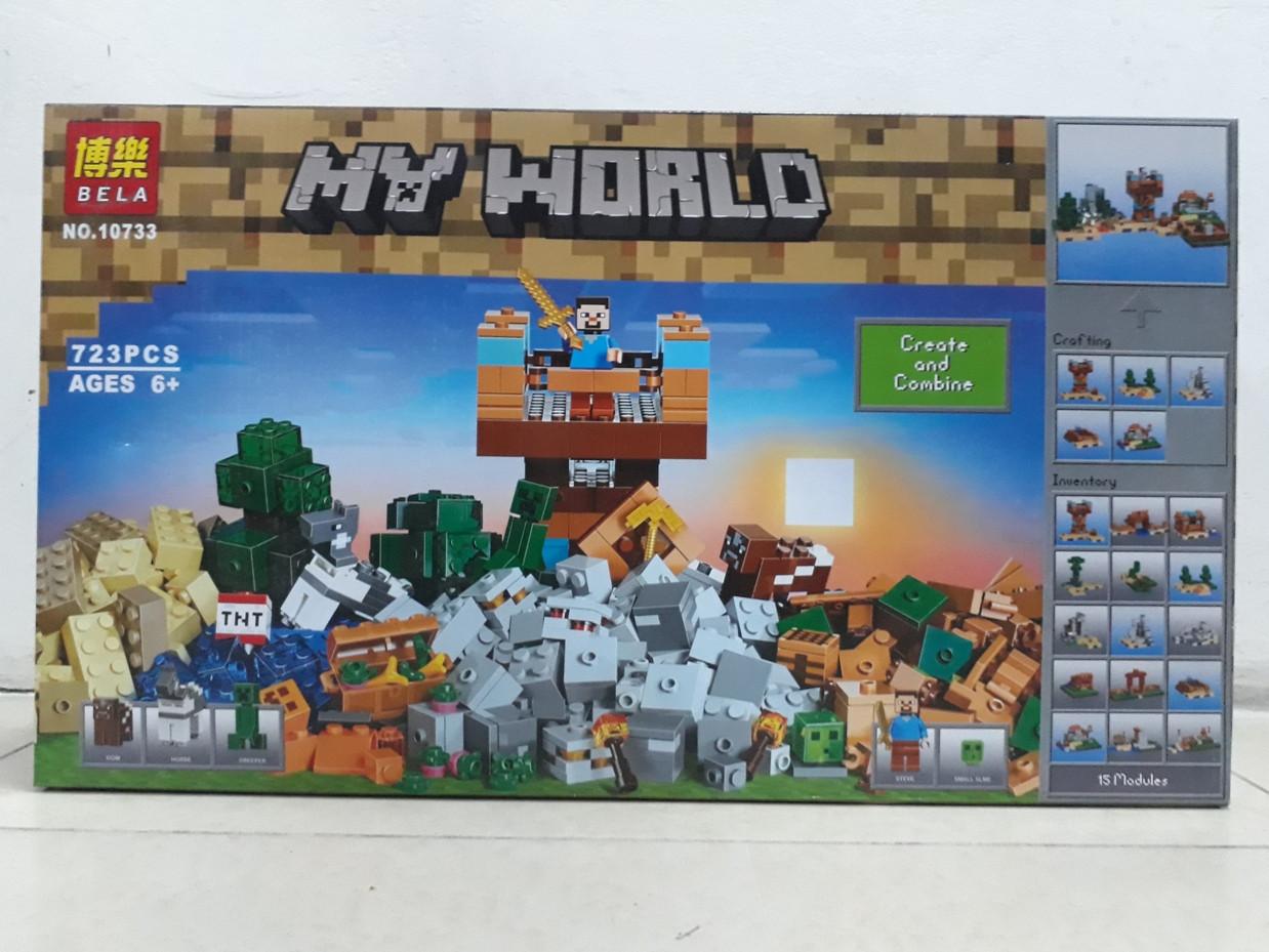 Конструктор Bela My world 10733 723 pcs. Minecraft. Майнкрафт