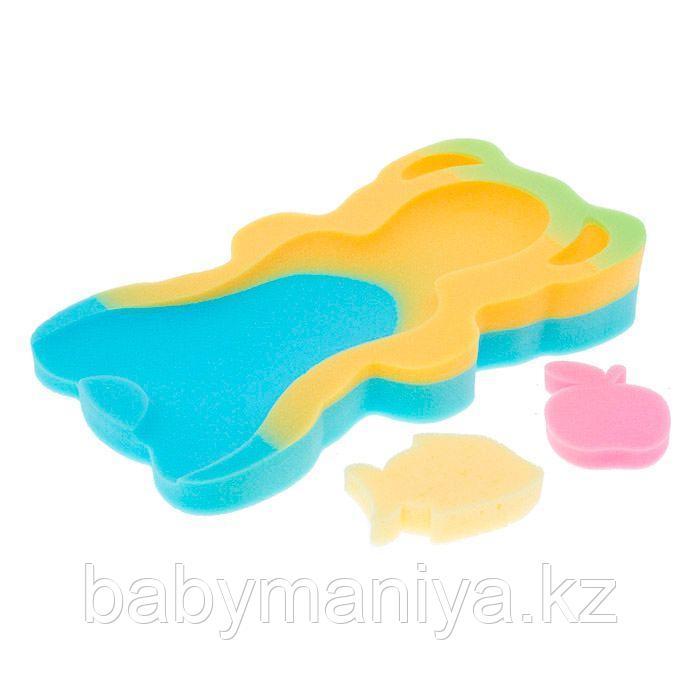 Поролоновый МАТРАС для ванны для новорожденного ТЕГА MAXI, большой, разноцветный