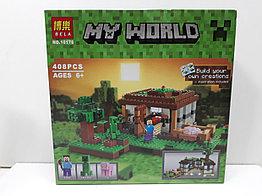 Конструктор Bela My world 10176 408 pcs. Minecraft. Майнкрафт
