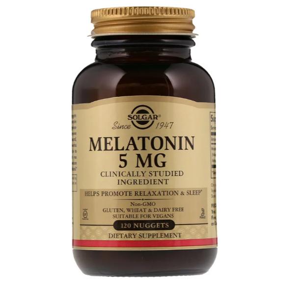 Solgar, Мелатонин, 5 мг, 120 пастилок