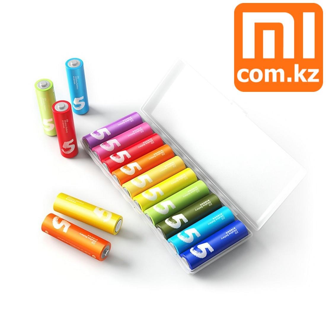 Батарейки Xiaomi Mi Rainbow AA, 10 шт, разноцветные. Оригинал.