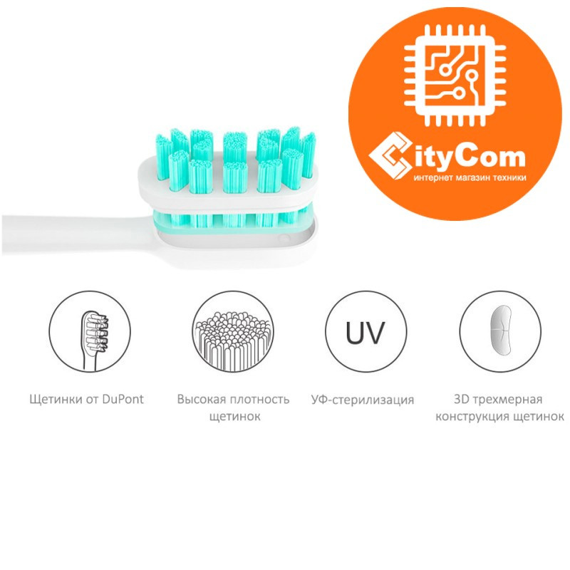 Сменная насадка для зубной щетки Xiaomi Mi Mijia Smart Sonic (3 шт в комплекте). Оригинал. - фото 1