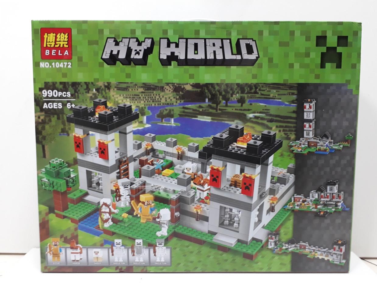 Конструктор Bela My world 10472 990 pcs. Minecraft. Майнкрафт