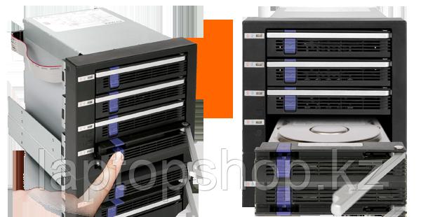 Система хранения данных ICY Dock MB154SP-B 4x3.5inch SATA 3x5.25 Bay Hot-Swap