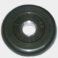 Диск обрезиненный черный 1,25 кг.