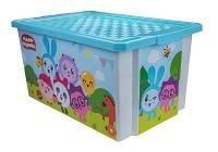 """Детский ящик для хранения игрушек """"X-BOX"""" """"Малышарики"""" 17л"""