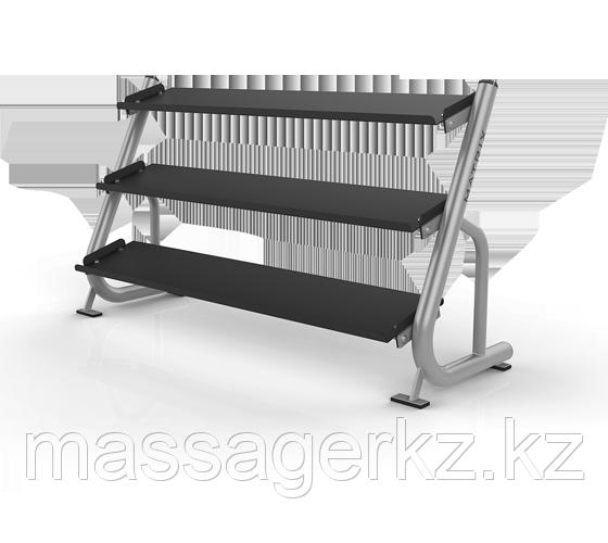 MATRIX MAGNUM A689 Подставка под гантели 1.8 метра (3-ех ярусная, плоская) (СЕРЕБРИСТЫЙ)