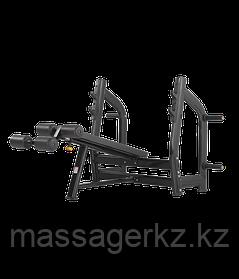 BRONZE GYM H-024 Скамья для жима с отрицательным наклоном (ЧЕРНЫЙ)