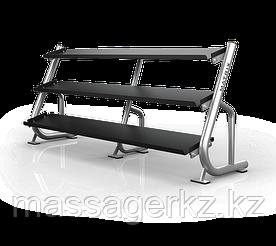 MATRIX MAGNUM A688 Подставка под гантели 2.4 метра (3-ех ярусная, плоская) (ЧЕРНЫЙ)