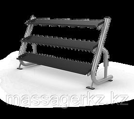 MATRIX MAGNUM A689 Подставка под гантели 1.8 метра (3-ех ярусная, плоская) (ЧЕРНЫЙ)