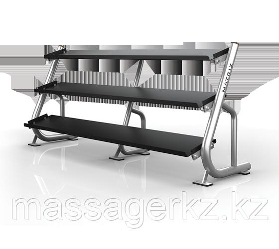 MATRIX MAGNUM A688 Подставка под гантели 2.4 метра (3-ех ярусная, плоская) (СЕРЕБРИСТЫЙ)