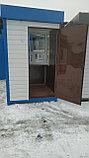 Пост охраны 1,5х1,5х2,5м синий, фото 3