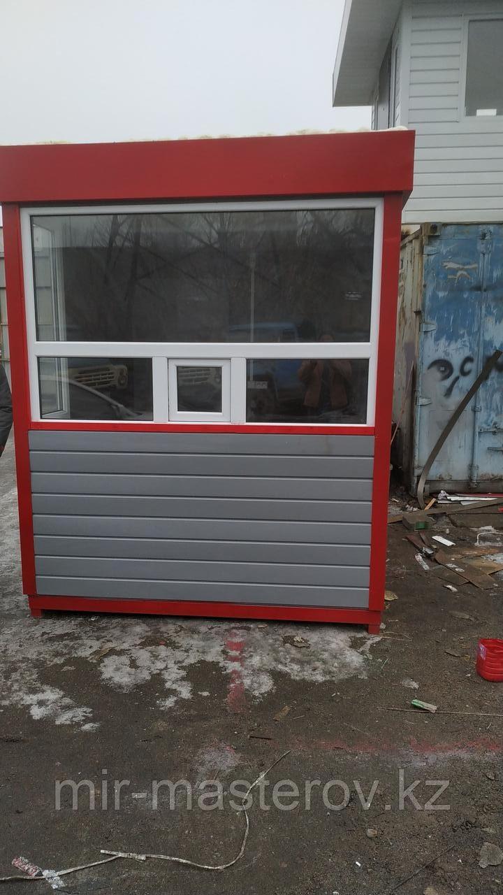 Пост охраны 2х2х2,5м красно серый