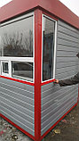 Пост охраны 2х2х2,5м красно серый, фото 2