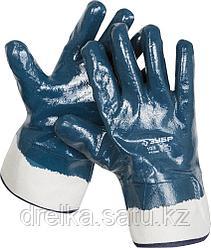 Перчатки ЗУБР рабочие с полным нитриловым покрытием
