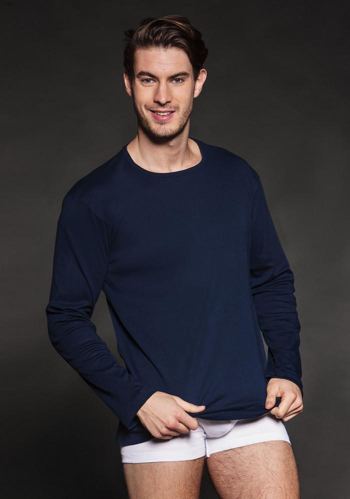 Нательная футболка с длинными рукавами