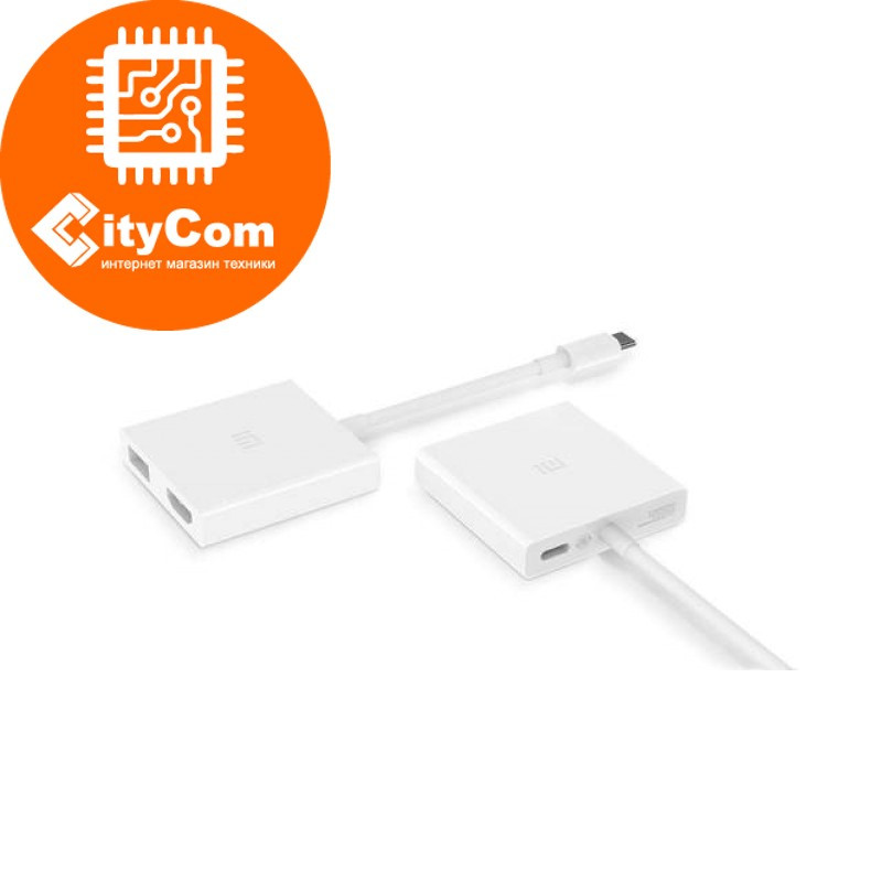 Адаптер (переходник) USB Type-C (m) to HDMI (f) + USB 2.0, Xiaomi Mi. Конвертер. Оригинал. Арт.5484