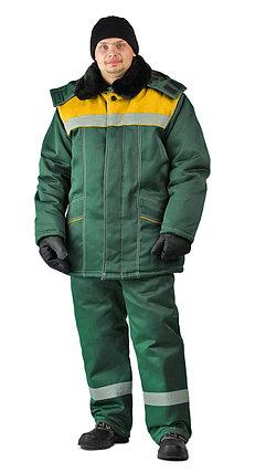 """Костюм рабочий зимний мужской """"Вьюга"""". Цвет: зеленый, фото 2"""