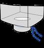 Big bag 72,5х72,5х120, 2 стропы, плотность 120г/м2, с разгрузочным люком