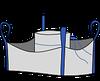 Биг-бэг 72,5х72,5х120, 4 стропы, плотность 120г/м2, с загрузочным люком