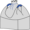 Биг-бэг 72,5х72,5х140, 2 стропы, плотность 140г/м2, с верхней сборкой