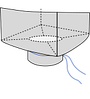 Биг-бэг 72,5х72,5х170, 1 стропа, плотность 180г/м2, с разгрузочным люком