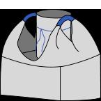 Биг-бэг 72,5х72,5х170, 2 стропы, плотность 180г/м2, с загрузочным люком