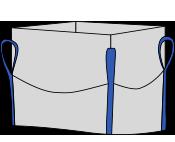 Биг-бэг 72,5х72,5х180, 4 стропы, плотность 200г/м2, с верхней сборкой