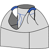 Биг-бэг 72,5х72,5х200, 2 стропы, плотность 220г/м2, с загрузочным люком