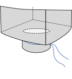 Биг-бэг 72,5х72,5х200, 2 стропы, плотность 220г/м2, с разгрузочным люком