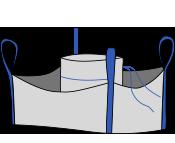 Биг-бэг 85х85х140, 4 стропы, плотность 140г/м2, с загрузочным люком