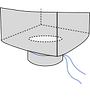 Биг-бэг 85х85х150, 2 стропы, плотность 160г/м2, с разгрузочным люком