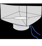 Биг-бэг 90х90х120, 1 стропа, плотность 120г/м2, с разгрузочным люком
