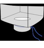 Биг-бэг 90х90х150, 4 стропы, плотность 160г/м2, с разгрузочным люком