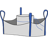 Биг-бэг 95х95х120, 4 стропы, плотность 120г/м2, с загрузочным люком