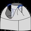 Биг-бэг 95х95х150, 2 стропы, плотность 160г/м2, с загрузочным люком