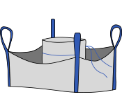 Биг-бэг 95х95х170, 4 стропы, плотность 180г/м2, с загрузочным люком