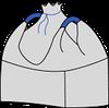 Мешок (биг-бэг) 90х90х170, 2 стропы, плотность 180г/м2, с верхней сборкой