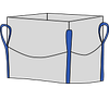 Мягкий контейнер 85х85х150, 4 стропы, плотность 160г/м2, с верхней сборкой