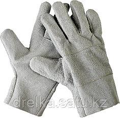 Перчатки СИБИН рабочие кожаные, из спилка, XL